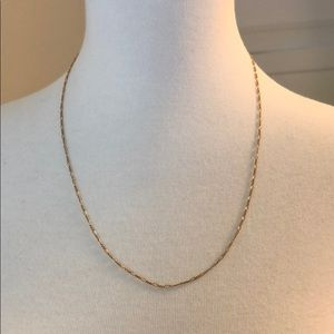 Are You Am I thin gold chain necklace